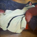 John White Alexander (1856-1915)  Repose  Oil on canvas, 1895  52 1/8 x 63 1/2 inches (132.7 x 161.6 cm)  Metropolitan Museum of Art, Manhattan